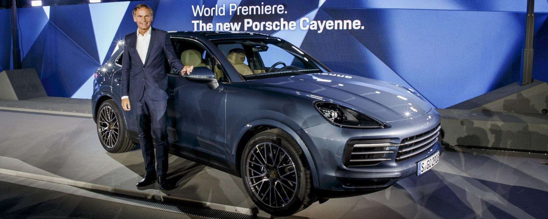 Nuova Porsche Cayenne 2018 introdotta da Oliver Blume