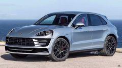 Nuova Porsche Macan elettrica: un rendering del SUV compatto in arrivo nel 2022