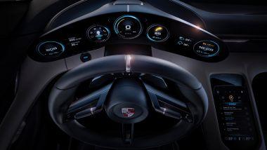 Porsche Taycan, il cockpit