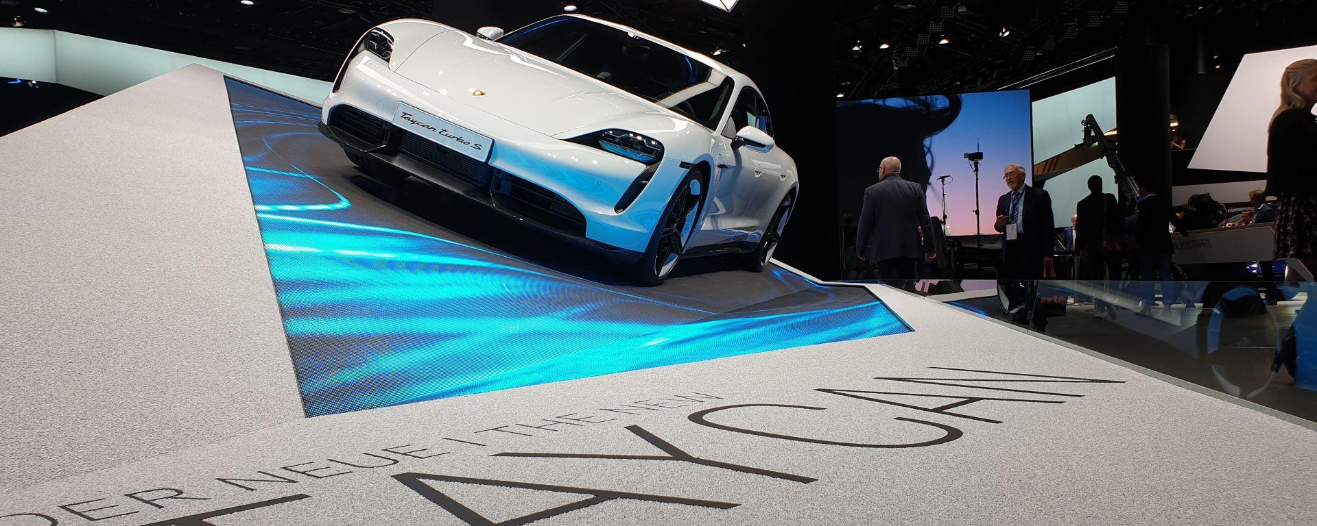 Nuova Porsche Taycan a Francoforte 2019