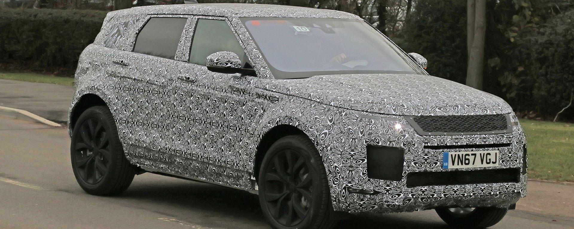 Nuova Range Rover Evoque: le foto spia
