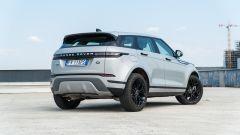 Nuova Range Rover Evoque: vista 3/4 posteriore