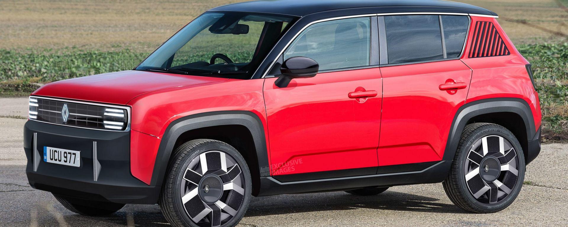 Nuova Renault 4: render grafico