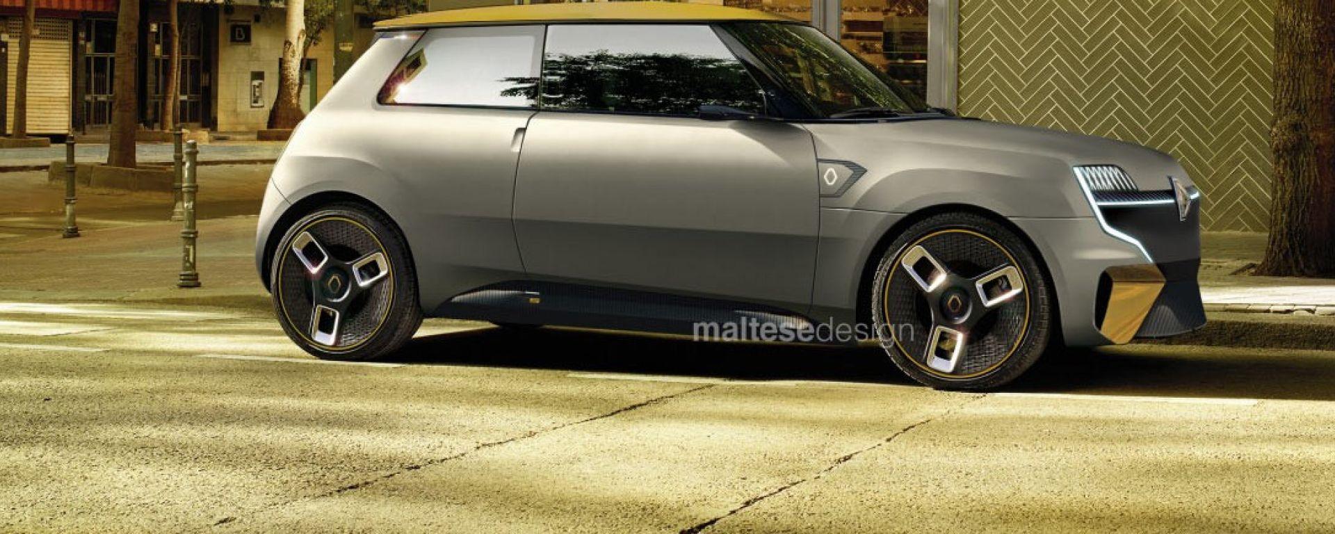 Nuova Renault 5 Concept, il render di Marco Maltese