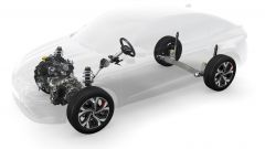 Nuova Renault Arkana E-Tech Hybrid: schema tecnico