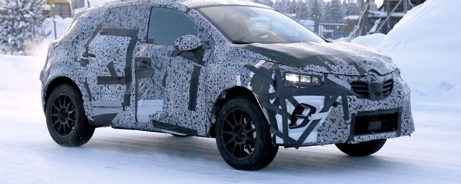 Nuova Renault Captur 2019, prime foto spia