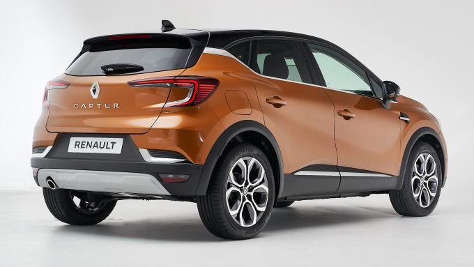 Nuova Renault Captur: vista 3/4 posteriore