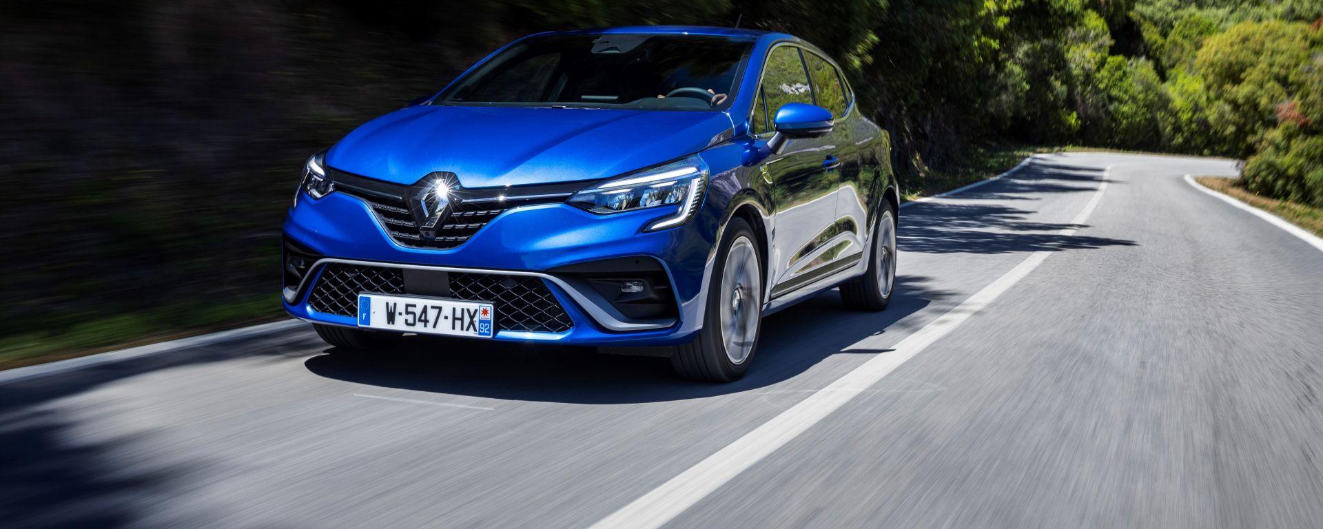 Nuova Renault Clio 2019: vista 3/4 anteriore