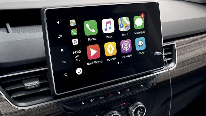 Nuova Renault Kangoo 2021: lo schermo dell'infotainment da 8