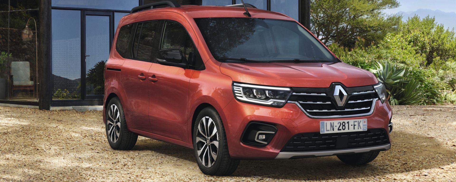 Nuova Renault Kangoo 2021: visuale di 3/4 anteriore