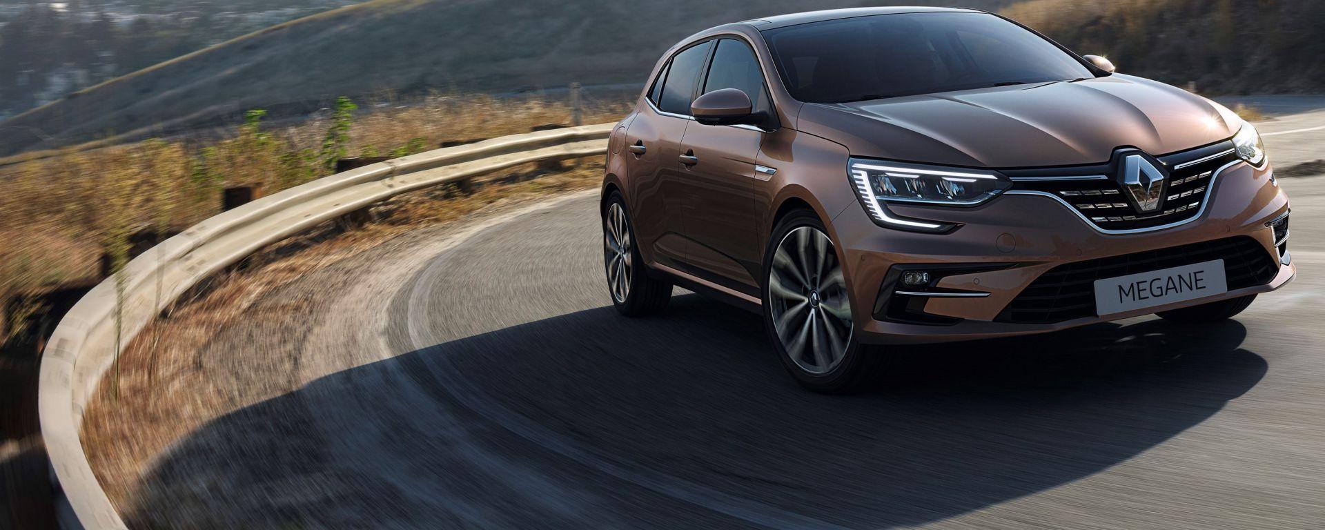 Nuova Renault Megane E-Tech: il frontale