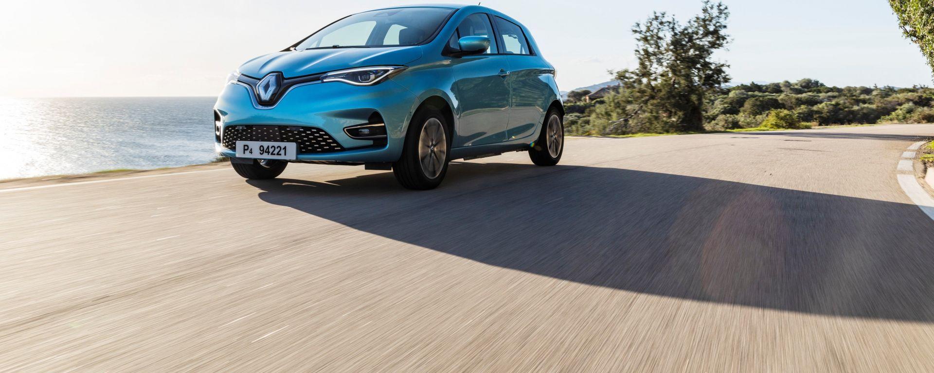 Nuova Renault ZOE: vista anteriore