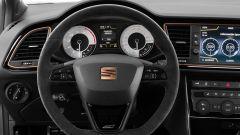 Nuova Seat Leon Cupra R: dettaglio del posto guida