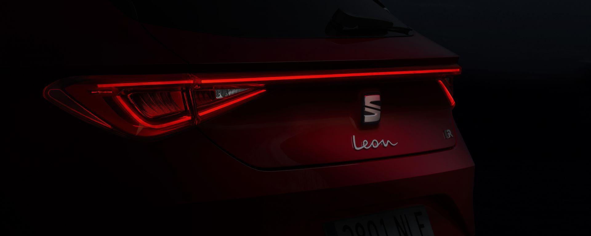Nuova Seat Leon, il teaser del posteriore