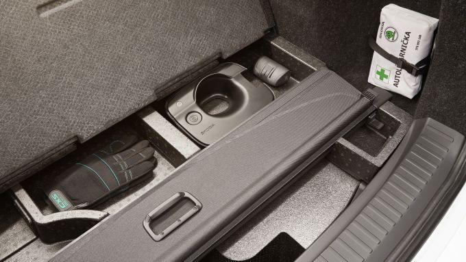 Nuova Skoda Enyaq iV: il doppiofondo nel bagagliaio
