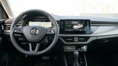 Nuova Skoda Scala 1.6 TDI Style DSG: la plancia della vettura con il tablet al centro