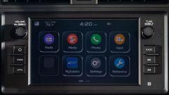 Nuova Subaru BRZ 2022: il display dell'infotainment