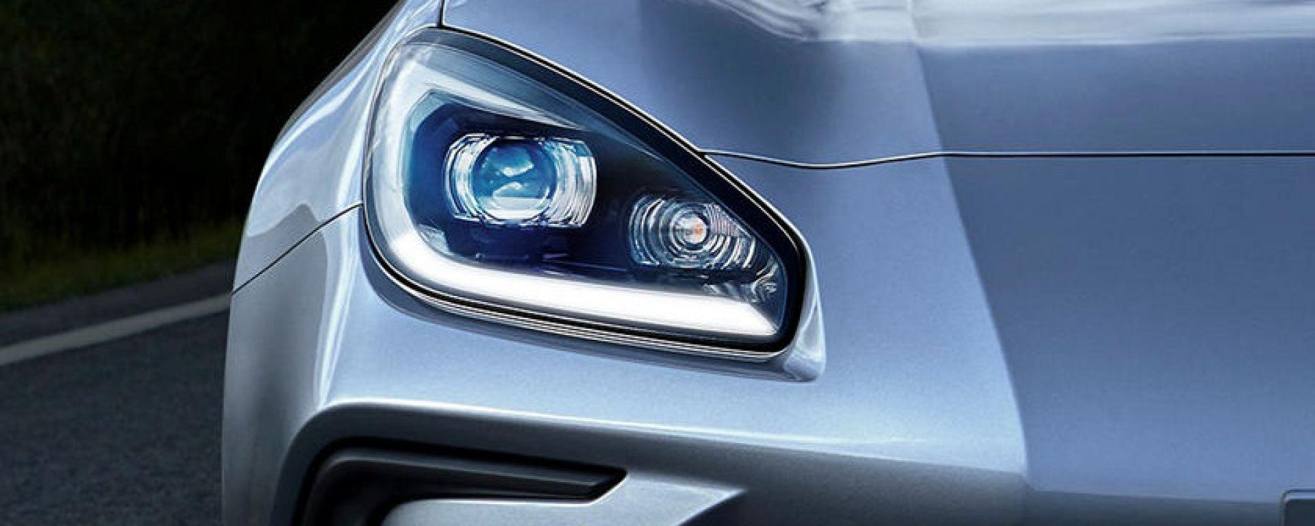 Nuova Subaru BRZ, il design dei fari anteriori
