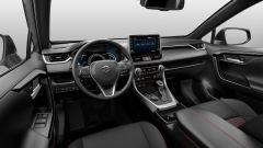 Nuova Suzuki Across: l'abitacolo del SUV ibrido giapponese dove spicca il touchscreen da 9