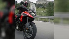 Nuova Suzuki Dr Big 2020: dettaglio dell'avantreno