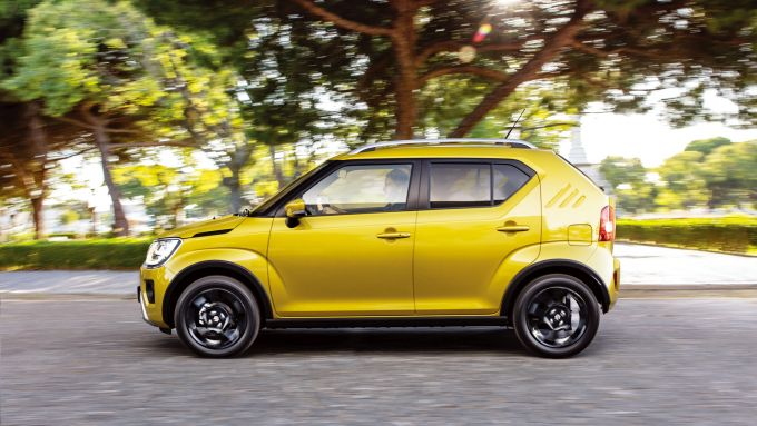 Nuova Suzuki Ignis Hybrid 2020: visuale laterale