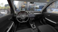 Nuova Suzuki Swift: interni caratterizzati dal volante piatto sotto e sedili più contenitivi