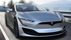 Nuova Tesla Model S: una vista del frontale molto aggressivo