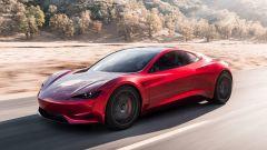 Nuova Tesla Roadster 2020: vista 3/4 anteriore