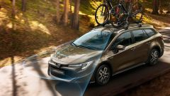 Nuova Toyota Corolla Touring Sports Trek: il sistema di rilevamento ciclisti diurno
