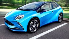 Nuova Toyota Pirus: anche full electric? Un render