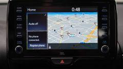 Nuova Toyota Yaris 2020: lo schermo dell'infotainment