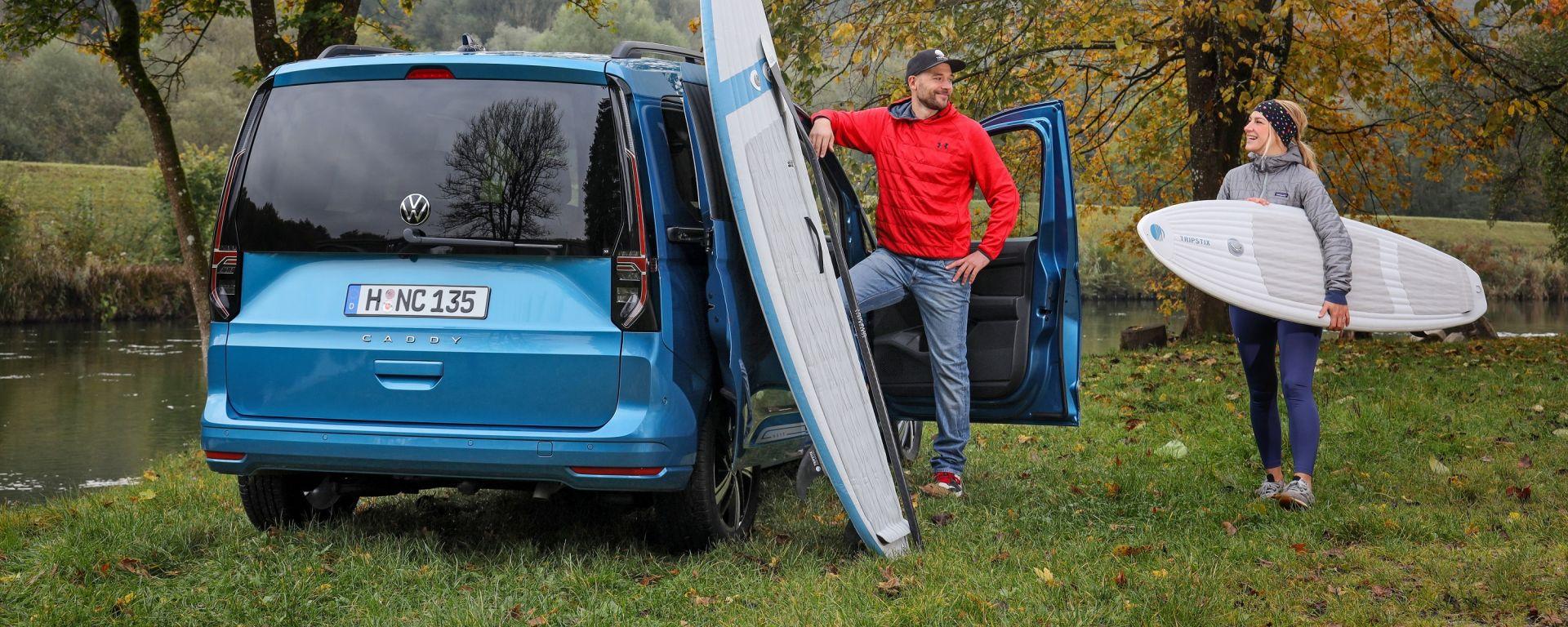 Nuova Volkswagen Caddy 2021: il nome Caddy indica la versione monovolume