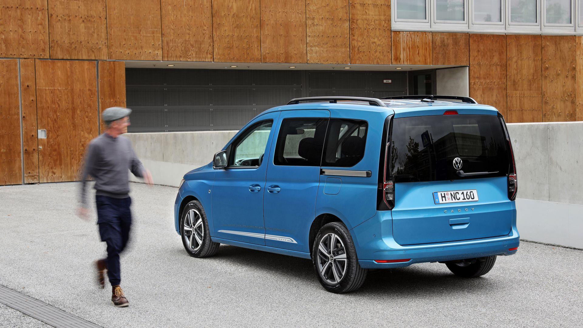 nuovo volkswagen caddy 2021: monovolume, camper e van