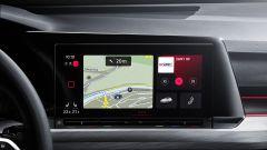 Nuova Volkswagen Golf 2020: particolare del nuovo schermo dell'infotainment