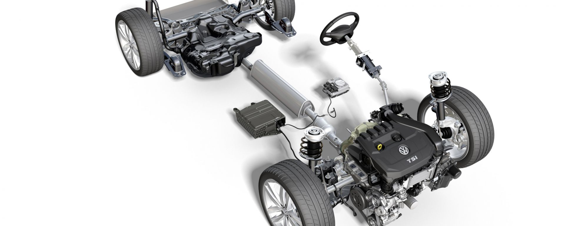 Nuova Volkswagen Golf 2020, piattaforma mild hybrid 48 Volt