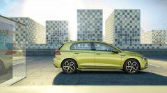 Nuova Volkswagen Golf 2020: visuale laterale