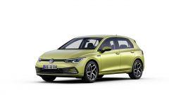 Nuova Volkswagen Golf 2020: visuale statica di 3/4 anteriore