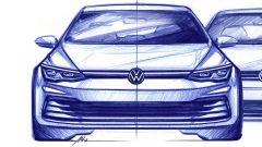 Nuova Volkswagen Golf, il bozzetto del frontale