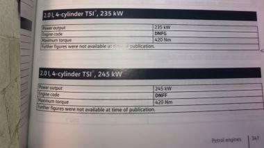 NUova Volkswagen Golf R 2021: l'indizio su una versione più potente