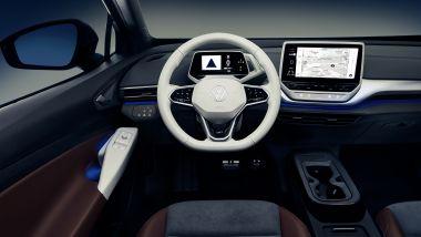 Nuova Volkswagen ID.4: l'abitacolo del SUV elettrico