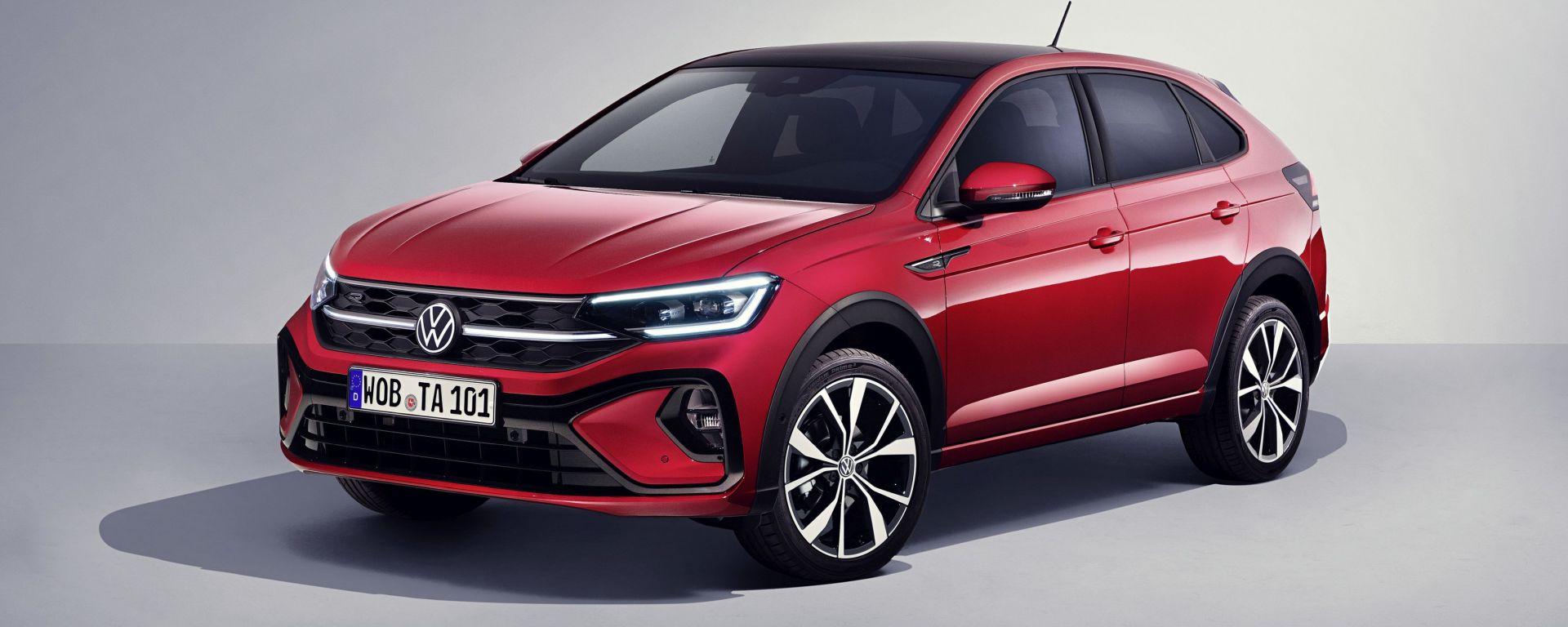 Nuova Volkswagen Taigo: visuale di 3/4 anteriore