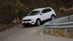Nuova Volkswagen Tiguan 1.6 TDi: vista 3/4 anteriore