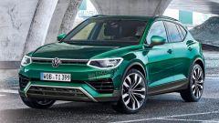 Nuova Volkswagen Tiguan 2022: vista 3/4 anteriore (fonte Auto Express)