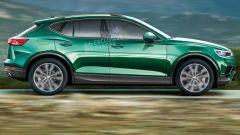 Nuova Volkswagen Tiguan 2022, vista laterale (fonte: Auto Express)