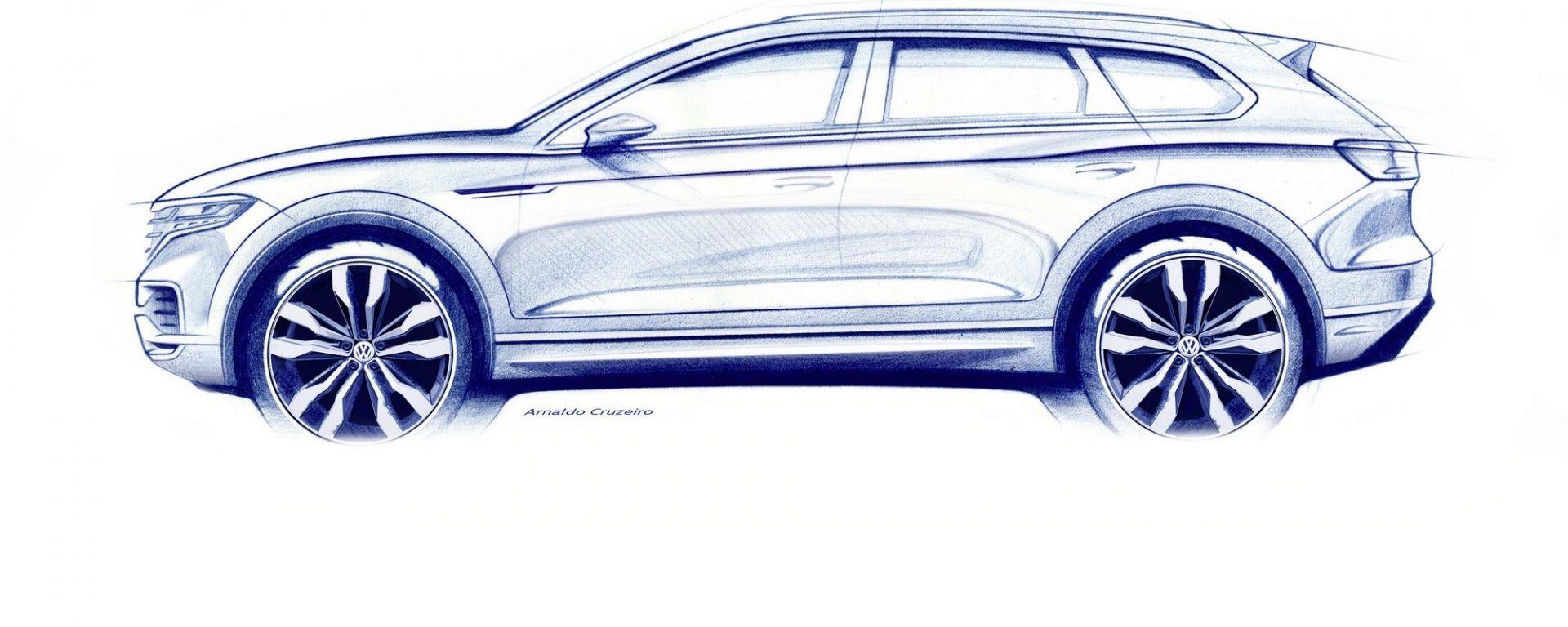 Nuova Volkswagen Touareg 2018, il teaser