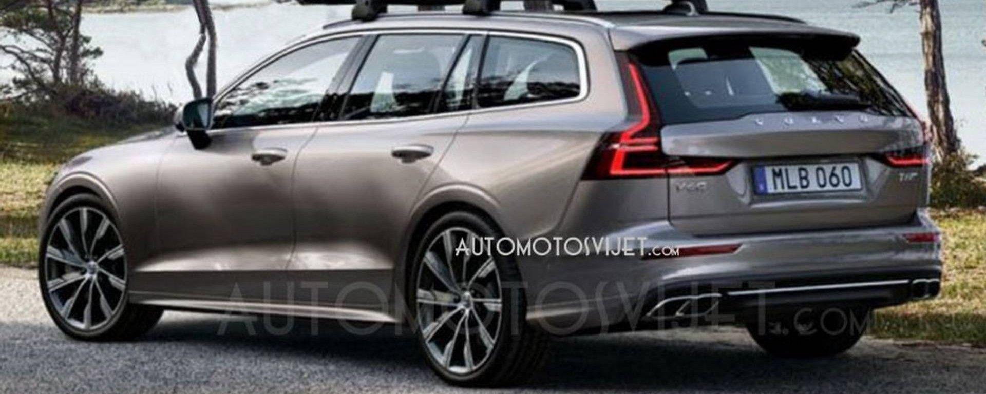 """Nuova Volvo V60 2018: le prime foto """"rubate"""""""