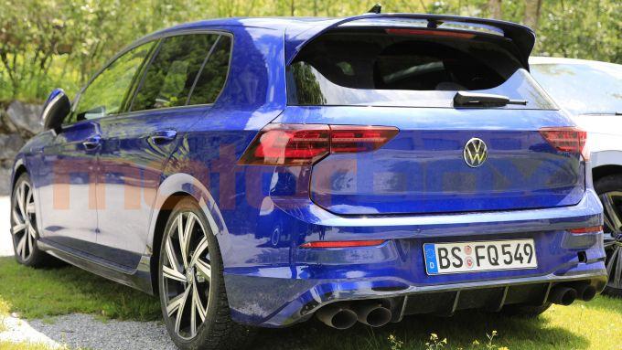 Nuova VW Golf R, il posteriore