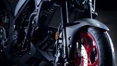 Nuova Yamaha MT-03: dettaglio ruota anteriore
