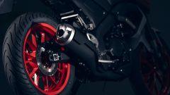 Nuova Yamaha MT-125 2020: dettaglio sul posteriore