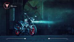 Nuova Yamaha MT-125 2020: vista di 3/4 anteriore